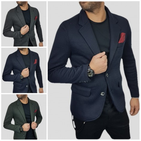 the latest 770dd 9d136 GIACCA DA UOMO BLAZER JEANS 2 BOTTONI CO