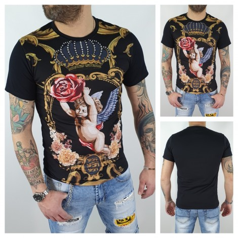 T-SHIRT ANGELI NERO
