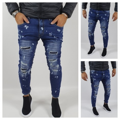 JEANS TRAPPI TOPPE PITTURA 933
